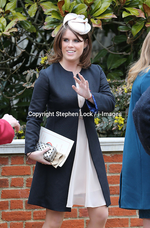 Princess Eugenie leaves the Easter Day service at St.George's Chapel, Windsor Castle, Sunday, 31st March 2013.  Photo by: Stephen Lock / i-Images