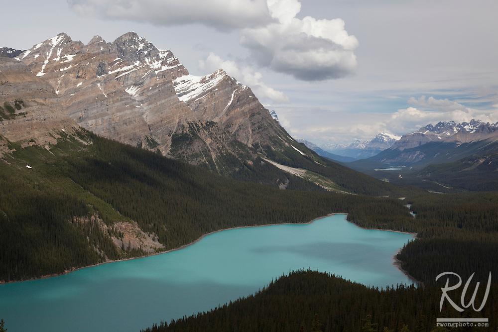 Peyto Lake at Bow Summit, Banff National Park, Alberta, Canada