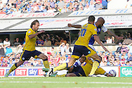 Picture by Richard Calver/Focus Images Ltd +447792 981244<br /> 28/09/2013<br /> David McGoldrick of Ipswich Town scores his second goal of the match against Brighton and Hove Albion during the Sky Bet Championship match at Portman Road, Ipswich.