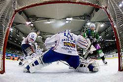Tommi Satosaari (SAPA Fehervar AV19, #41) during ice-hockey match between HDD Tilia Olimpija and SAPA Fehervar AV19 in 27th Round of EBEL league, on December 12, 2010 at Hala Tivoli, Ljubljana, Slovenia. (Photo By Matic Klansek Velej / Sportida.com)
