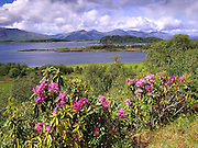 Springtime view towards Appin,Lismore and the morvern hills as seen from the isle of Eriska, Argyll