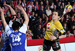 Andrea Lekic at handball match at Main round of Champions League between RK Krim Mercator, Ljubljana and CS Oltchim Rm. Valcea, Romania, in Arena Kodeljevo, Ljubljana, Slovenia, on 28th of February 2009. Krim won 35:34.