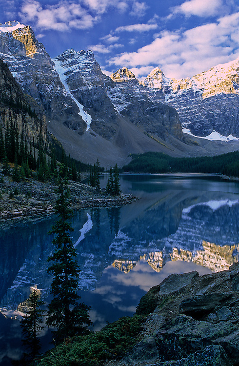 One of the iconic views of Banff National Park, in Aberta, is Moraine Lake