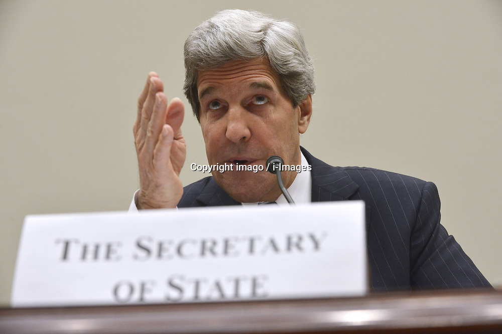 59531026.U.S. Secretary of State John F. Kerry testifies before the U.S. House Foreign Affairs Committee on Securing U.S. Interests Abroad: the FY 2014 Foreign Affairs Budget , on Capitol Hill in Washington D.C., USA, on April 17, 2013, April 18, 2013. Photo by: imago / i-Images. .UK ONLY