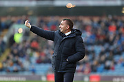 Leicester City manager Brendan Rodgers                                                                                                  during the Premier League match between Burnley and Leicester City at Turf Moor, Burnley, England on 19 January 2020.