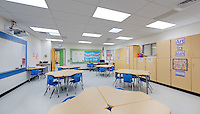 Interior design image of Longfellow Elementary School in Columbia Maryland by Jeffrey Sauers of Commercial Photographics, Architectural Photo Artistry in Washington DC, Virginia to Florida and PA to New England