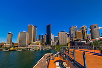 View of Circular Quay from the top of the Overseas Passenger Terminal (where cruise ships dock), Sydney, New South Wales, Australia