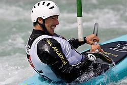 Benoit Peschier of Greece competes in the Men's Kayak K1 at Kayak & Canoe ICF slalom race Tacen 2010 on May 16, 2010 in Tacen, Ljubljana, Slovenia. (Photo by Vid Ponikvar / Sportida)