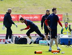 17.05.2012, Dolomitenstadion, Lienz, AUT, UEFA EURO 2012, Trainingscamp, Polen, Ankunft der Mannschaft, im Bild v.l. Tormanntrainer Jacek Kazimierski, Lukasz Fabianski (POL) und Przemyslaw Tyton (POL) und Physio Remigiusz Rzepka // during first training of polish National Footballteam for preparation UEFA EURO 2012 at Dolomitenstadion, Lienz, Austria on 2012/05/17. EXPA Pictures © 2012, PhotoCredit: EXPA/ Johann Groder