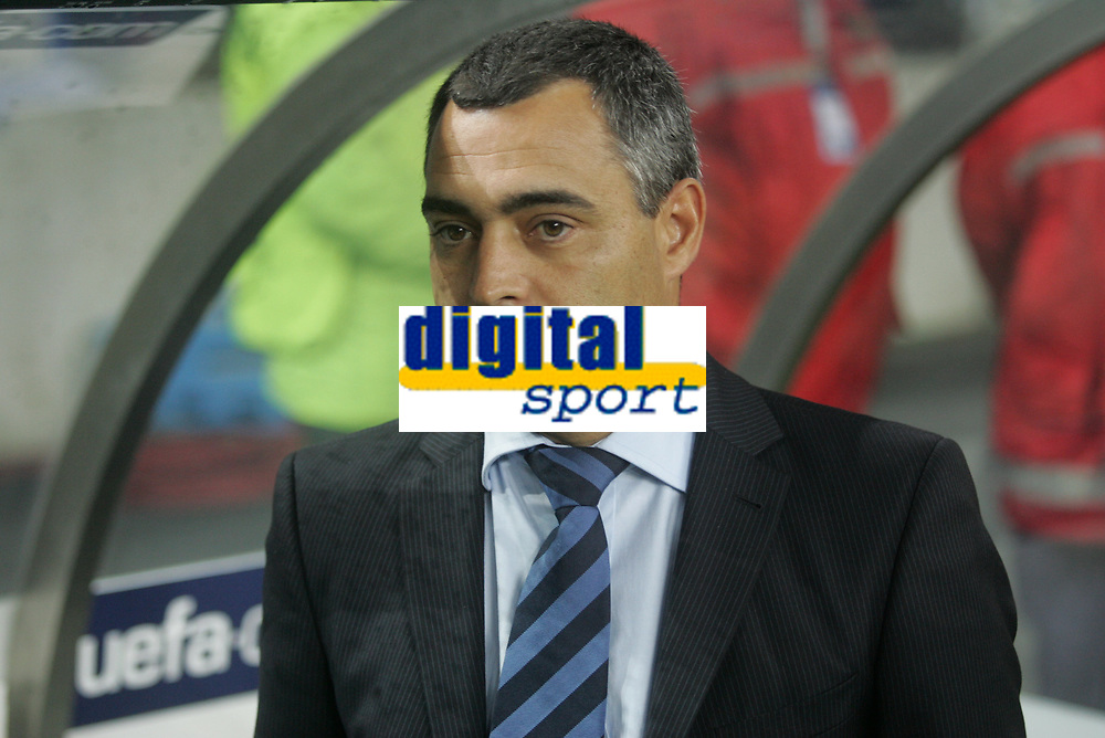 """PORTUGAL - PORTO 23 FEBRUARY 2005: FC Porto coach JOSE COUCEIRO, First Knock-out Round First Leg of the UEFA Champions League, match FC Porto (1) vs FC Internazionale (1), held in """"Dragao"""" stadium  23/02/2005  19:24:37<br />(PHOTO BY: NUNO ALEGRIA/AFCD)<br /><br />PORTUGAL OUT, PARTNER COUNTRY ONLY, ARCHIVE OUT, EDITORIAL USE ONLY, CREDIT LINE IS MANDATORY AFCD-PHOTO AGENCY 2004 © ALL RIGHTS RESERVED"""