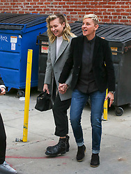 Ellen DeGeneres is seen arriving at 'Jimmy Kimmel Live' in Los Angeles, California. NON-EXCLUSIVE December 10, 2018. 10 Dec 2018 Pictured: Portia de Rossi,Ellen DeGeneres. Photo credit: BG017/Bauergriffin.com / MEGA TheMegaAgency.com +1 888 505 6342