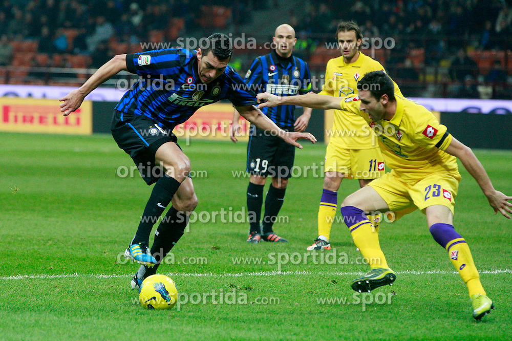 10.12.2011, Stadion Giuseppe Meazza, Mailand, ITA, Serie A, Inter Mailand vs AC Florenz, 15. Spieltag, im Bild Lucio Inter the football match of Italian 'Serie A' league, 15th round, between Inter Mailand and AC Florenz at Stadium Giuseppe Meazza, Milan, Italy on 2011/12/10. EXPA Pictures © 2011, PhotoCredit: EXPA/ Insidefoto/ Paolo Nucci..***** ATTENTION - for AUT, SLO, CRO, SRB, SUI and SWE only *****