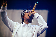 Wiz Khalifa perforing live at the Rock A Field Festival in Roeser, Luxembourg on June 29, 2014