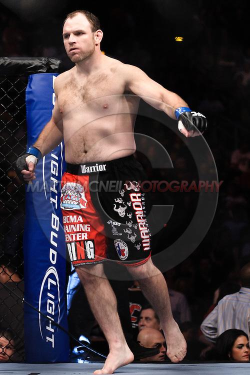 "ATLANTA, GEORGIA, SEPTEMBER 6, 2008: Mike Patt enters the octagon during ""UFC 88: Breakthrough"" inside Philips Arena in Atlanta, Georgia on September 6, 2008"