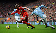 Ryan Babel (Liverpool) & Pablo Zabaleta (Manchester City during the Barclays Premier League match between Liverpool and Manchester City at Anfield - 21/11/09