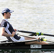 Eton, United Kingdom.  Stephen FEENEY, competing in the Men's Lightweight Single Sculls  Sat. time trial.  2011 GBRowing Trials, Dorney Lake. Saturday  16/04/2011  [Mandatory Credit; Peter Spurrier/Intersport-images] Venue For 2012 Olympic Regatta and Flat Water Canoe events.