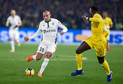 January 30, 2019 - Nantes, France - Wahbi Khazri ( Saint Etienne ) - Abdoulaye Toure  (Credit Image: © Panoramic via ZUMA Press)