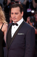 Johnny Depp at the gala screening for the film Black Mass at the 72nd Venice Film Festival, Friday September 4th 2015, Venice Lido, Italy.