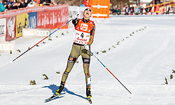 29.01.2017, Casino Arena, Seefeld, AUT, FIS Weltcup Nordische Kombination, Seefeld Triple, Langlauf, im Bild Sieger Eric Frenzel (GER) // Winner Eric Frenzel of Germany reacts after Cross Country Gundersen Race of the FIS Nordic Combined World Cup Seefeld Triple at the Casino Arena in Seefeld, Austria on 2017/01/29. EXPA Pictures © 2017, PhotoCredit: EXPA/ JFK