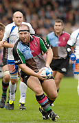 Twickenham. Great Britain, Quins, Ceri JONES, attacking, during the, European Challenge Cup, match between, NEC Harlequins and Montpellier, on Sat., 28/10/2006, played at the Twickenham Stoop, England. Photo, Peter Spurrier/Intersport-images]......