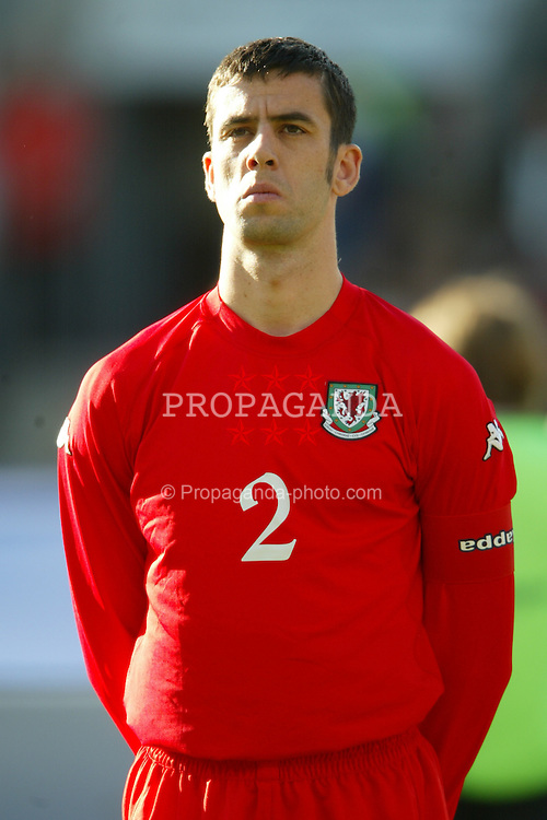 OSLO, NORWAY - Thursday, May 27, 2004:  Wales' captain Mark Delaney pictured before the International Friendly match at the Ullevaal Stadium, Oslo, Norway. (Photo by David Rawcliffe/Propaganda)
