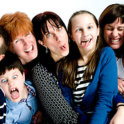 Family, group and individual portraits - location and studio.