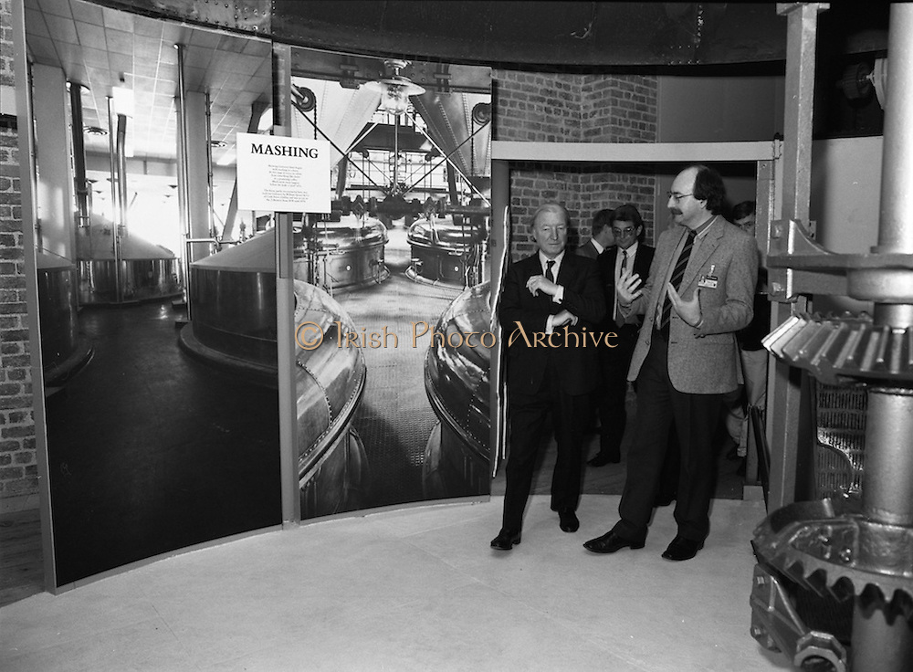 19/08/1988<br /> 08/19/1988<br /> 19 August 1988<br /> Taoiseach visits ROSC '88 at the Guinness Hop Store, Dublin. The Taoiseach Charles Haughey on a tour of the Storehouse.