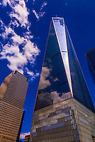 One World Trade Center and World Financial Center, Battery Park City in Manhattan, New York City, New York USA.