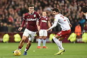 Aston Villa midfielder Jack Grealish (10) sprints forward with the ball during the EFL Sky Bet Championship match between Aston Villa and Nottingham Forest at Villa Park, Birmingham, England on 28 November 2018.
