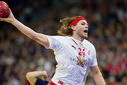 Mikkel Hansen of Denmark during handball match between Denmark and Spain in 1st Semifinal at 10th EHF European Handball Championship Serbia 2012, on January 27, 2012 in Beogradska Arena, Belgrade, Serbia. Denmark defeated Spain 25-24. (Photo By Vid Ponikvar / Sportida.com)