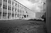 13/04/1964<br /> 04/13/1964<br /> 13 April 1964<br /> Exterior of new university buildings at Belfield. The Biology Department (left) with Physics Department in background.