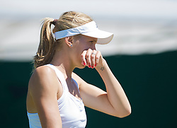 LONDON, ENGLAND - Tuesday, June 23, 2009: Nicole Vaidisova (CZE) during her Ladies' Singles 1st Round defeat on day two of the Wimbledon Lawn Tennis Championships at the All England Lawn Tennis and Croquet Club. (Pic by David Rawcliffe/Propaganda)