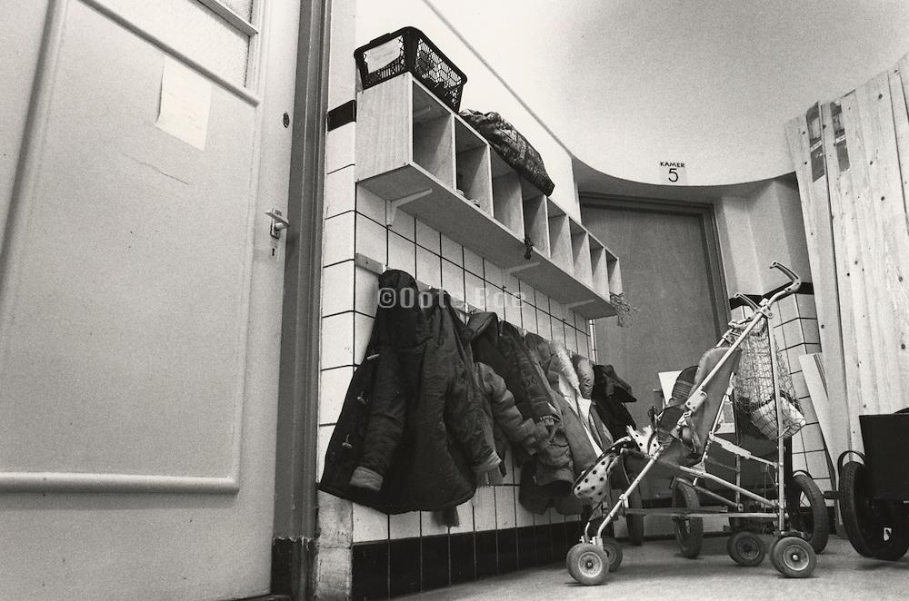 Hallway coat storage in preschool Holland