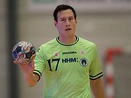 HÅNDBOLD: Aku Kreutzmann (Nordsjælland) under kampen i 888-Ligaen mellem Nordsjælland Håndbold og Århus Håndbold den 2. september 2017 i Helsinge Hallen. Foto: Claus Birch.