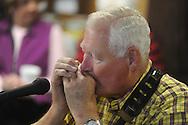 David Blackmarr of Oxford was among musicians playing at Blackjack Connection at Blackjack Presbyterian Church near Sardis Lake on Monday, March 21, 2010.
