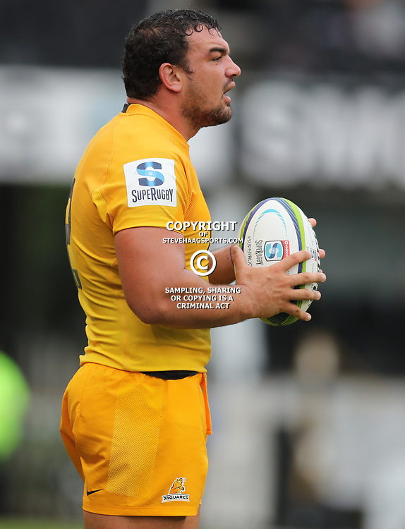 Agustin Creevy (captain) of the Jaguares during the Super Rugby match between the Cell C Sharks and the Jaguares  April 8th 2017 - at Growthpoint Kings Park,Durban South Africa Photo by (Steve Haag)