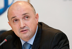 Darijan Kosir, Director of the Slovenia's Government Communication Office during press conference at Eurobasket 2013 Candidate presentation of Slovenia at FIBA EUROPE Board on December 05, 2010 in Munich, Germany. The Board decided that Eurobasket 2013 will be hold in Slovenia. (Photo By Vid Ponikvar / Sportida.com)