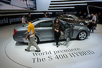The Mercedes S400 Hybrid at the Shanghai autoshow 2009
