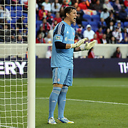 Bobby Shuttleworth, the New York Revolution goalkeeper during the New York Red Bulls V New England Revolution, Major League Soccer regular season match at Red Bull Arena, Harrison, New Jersey. USA. 20th April 2013. Photo Tim Clayton