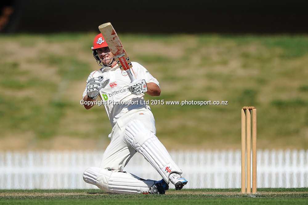 Canterbury player Neil Broom during their Plunket Shield match Central Stags v Canterbury at Saxton Oval, Nelson, New Zealand. Thursday 19 March 2015. Copyright Photo: Chris Symes / www.photosport.co.nz