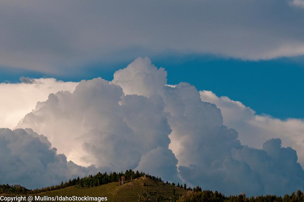Thunderhead cloud above Stanley Basin Idaho