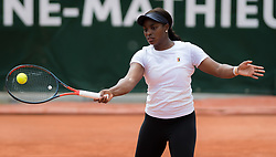 May 21, 2019 - Paris, FRANCE - Sloane Stephens of the United States during practice with Serena Williams at the 2019 Roland Garros Grand Slam tennis tournament (Credit Image: © AFP7 via ZUMA Wire)
