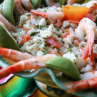 Deluxe ceviche with shrimp is photographed on Wednesday, November 10, 2010 at Casuelas Cafe in Palm Desert, Calif. The restaurant is located at 73-703 Highway 111. Hours are 10 a.m. - 10 p.m. Monday through Friday and 8 a.m. - 10 p.m. on weekends. Crystal Chatham, The Desert Sun