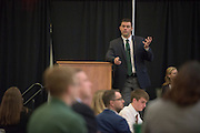 Dr. Adam Rapp, Executive Director of The Ralph and Luci Schey Sales Centre, speaks at the 2016 Schey Sales Symposium held in Baker Center on November 3, 2016.