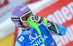 29.12.2014, Hohe Mut, Kühtai, AUT, FIS Ski Weltcup, Kühtai, Slalom, Damen, 2. Durchgang, im Bild Tina Maze (SLO) // Tina Maze of Slovenia reacts after 2nd run of Ladies Giant Slalom of the Kuehtai FIS Ski Alpine World Cup at the Hohe Mut Course in Kuehtai, Austria on 2014/12/29. EXPA Pictures © 2014, PhotoCredit: EXPA/ Erich Spiess