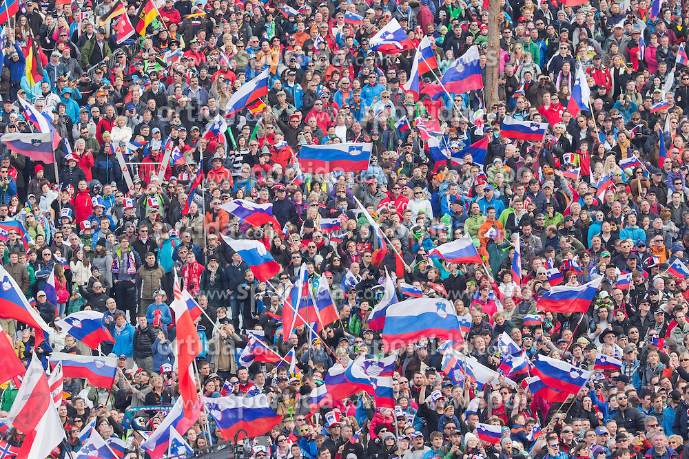 Spectators during the Ski Flying Individual Competition at Day 2 of FIS World Cup Ski Jumping Final, on March 20, 2015 in Planica, Slovenia. Photo by Ziga Zupan / Sportida