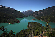 Overlook view of Diablo Lake with it's glacier fed aqua colored water. (Steve Ringman / The Seattle Times)