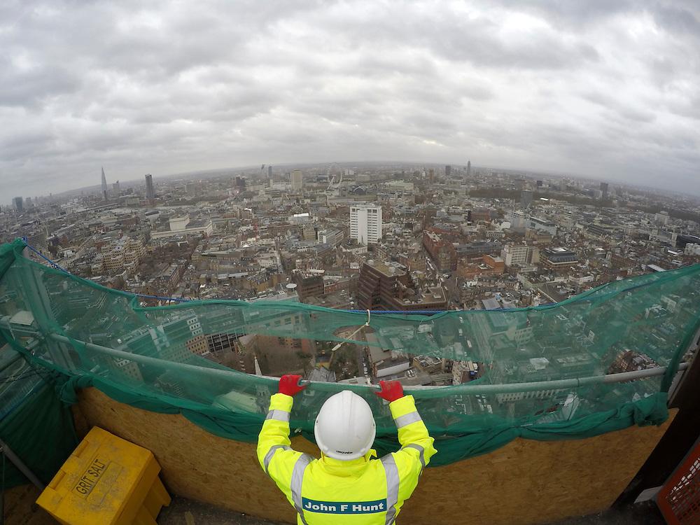 Centre Point. John F Hunt Demolition Site. London January 2016.<br /> <br />  (Photo - Zute Lightfoot)