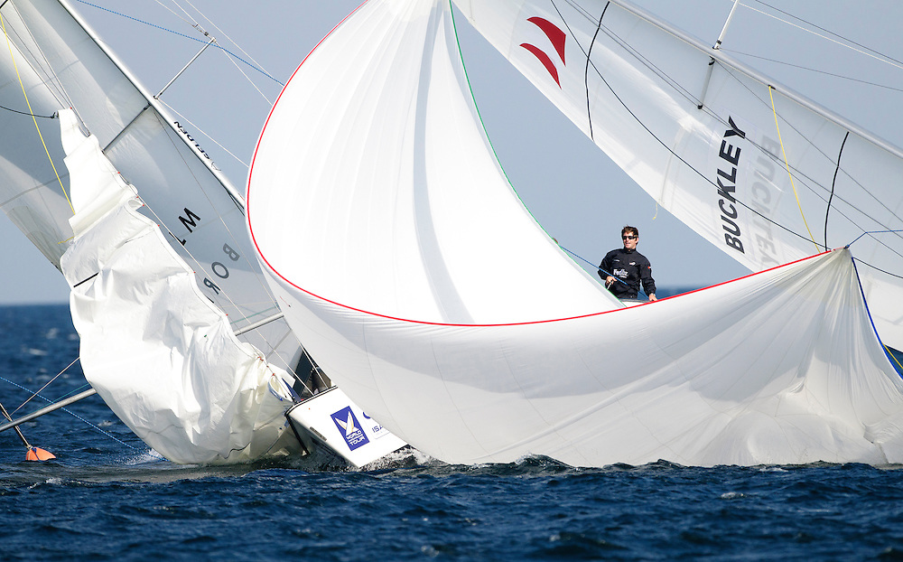 Minoprio vs Buckley. Danish Open 2010, Bornholm, Denmark. World Match Racing Tour. photo: Loris von Siebenthal - myimage