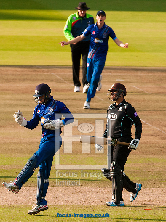 Zahar Mahmood is stumped by Gareth Roderick during the Royal London One Day Cup Final match at Lord's, London<br /> Picture by Jack Megaw/Focus Images Ltd +44 7481 764811<br /> 19/09/2015